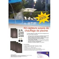 Kit capteurs solaire piscine